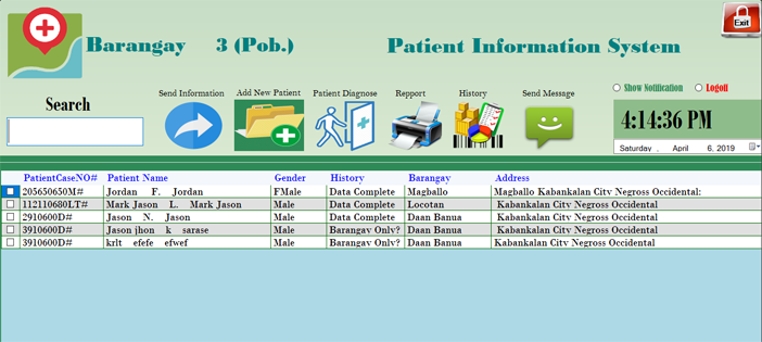 Patient Information System Project in VB.NET with Source Code