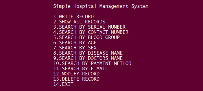 Simple Hospital Management System Project In PYTHON With Source Code
