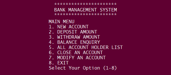 Bank Management System Project In PYTHON with Source Code