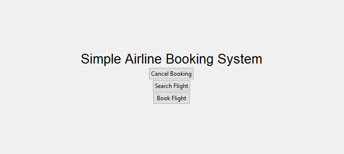 Simple Airline Booking System Project in PYTHON with Source Code
