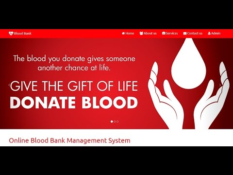 Blood Bank Management System Project in PHP with Source Code