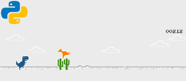 Dino Game Project  in PYTHON with Source Code