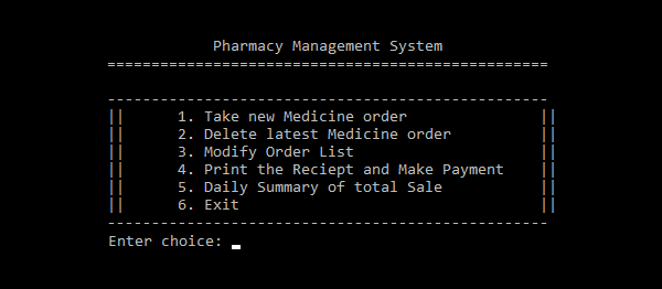 Pharmacy Management System In C++ | Source Code
