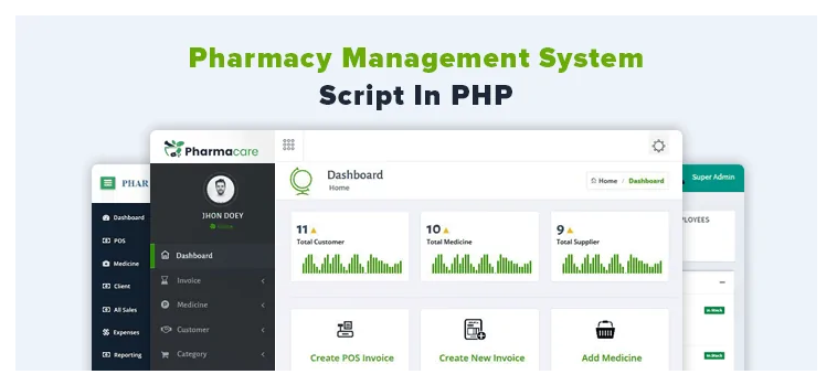 Pharmacy Management System In PHP | Source Code
