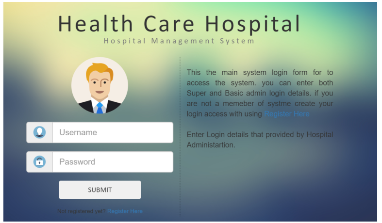 Health Care hospital in PHP,MYSQL with Source Code